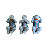 monkey - ceramic monkeys - Do No Evil