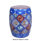 Vintage Chinese Oriental Imari Mixed Color Porcelain Round Stool Ottoman cs5227S