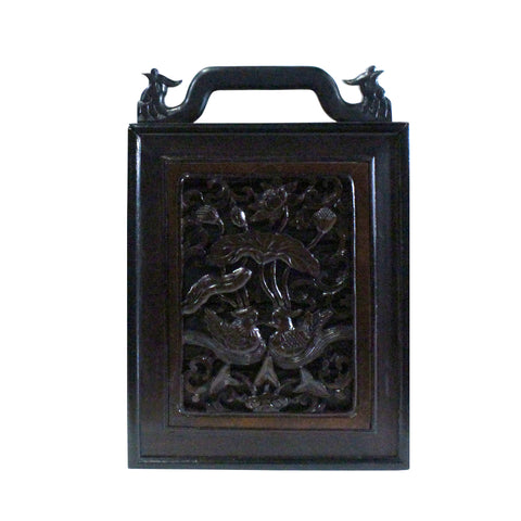 box - old box - Chinese carving