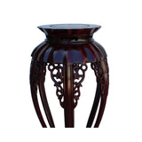 Chinese Red Brown Mahogany Round Curved Legs Plant Stand cs5248S
