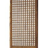 Chinese Old Rustic Bold Geometric Open Pattern Wall Tall Panel Divider cs5257S