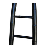 Black Oriental Bamboo Ladder Shape Display Towel Rack Wall Panel cs5283S