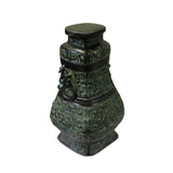 bronze vessel - Chinese green bronze art - Shang metal Art