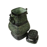Chinese Oriental Green Bronze-ware Home Decor Display cs5294S