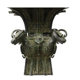 Chinese Oriental Green Bronze-ware Large Home Decor Display cs5297S