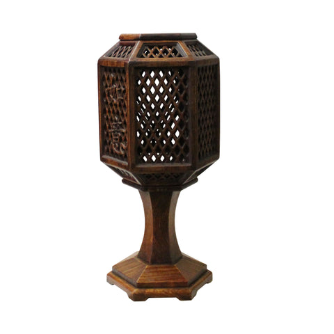 candle holder - wood table lamp - Chinese lamp