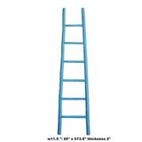 Blue Oriental Bamboo Ladder Shape Display Towel Rack Wall Panel cs5301S
