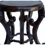 "Chinese Brown Wood Round Tall Table Top Stand Display Easel 5.75"" cs5320AS"