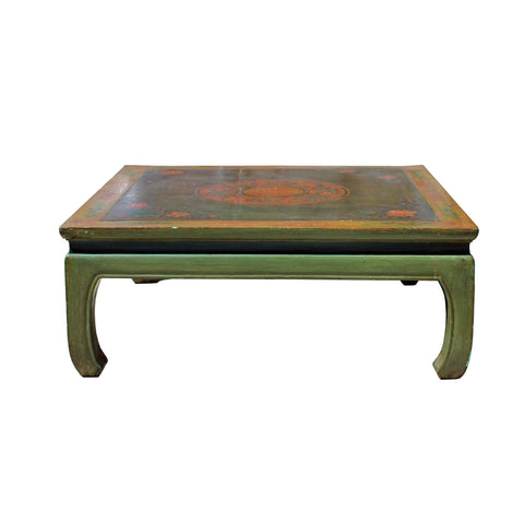 coffee table - square table - lime green coffee table