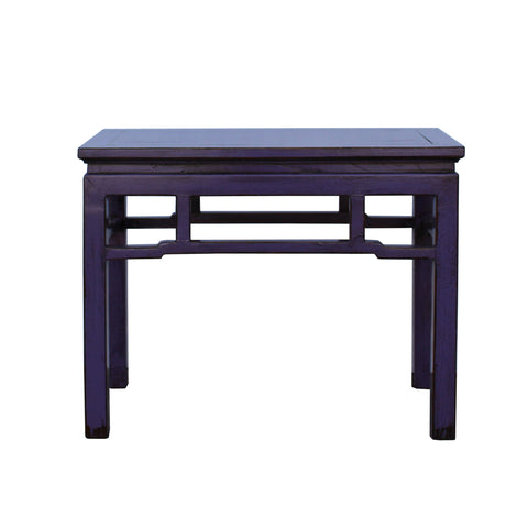 oriental bench - purple lacquer - wood stool