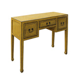 altar table - foyer desk - distressed yellow