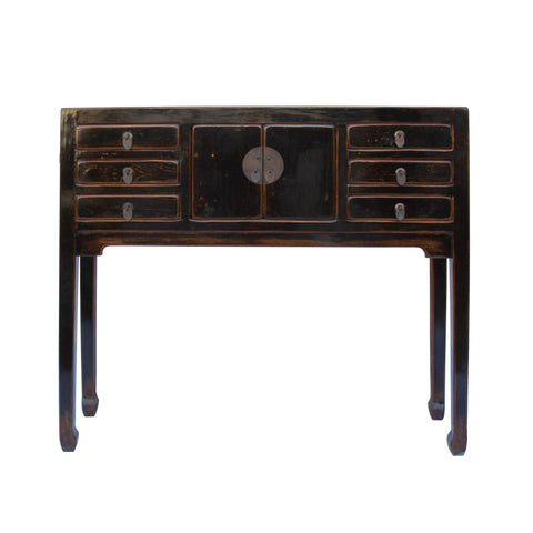 narrow table - black side table - foyer table