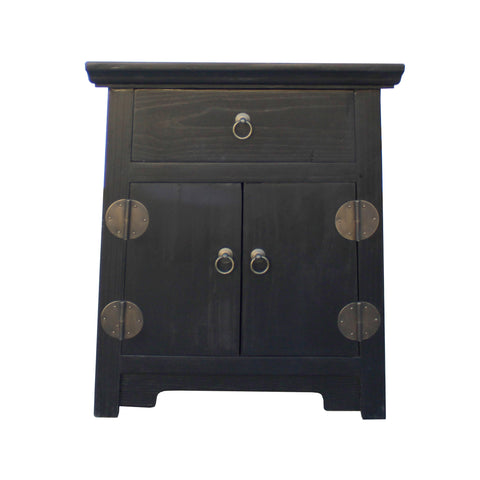 black end table - oriental nightstand - side table