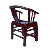 armchair - ox blood red lacquer - Chinese armchair