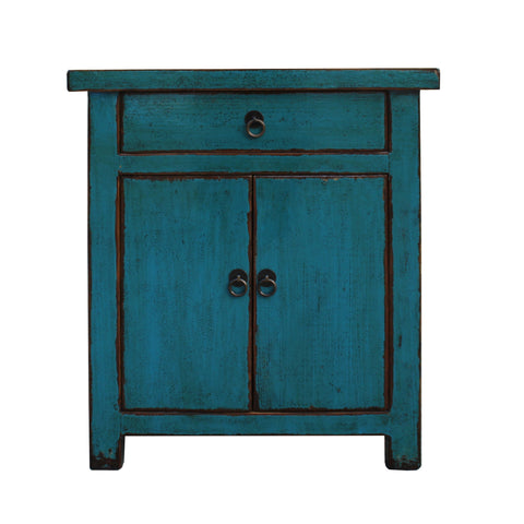 teal blue - end table - nightstand