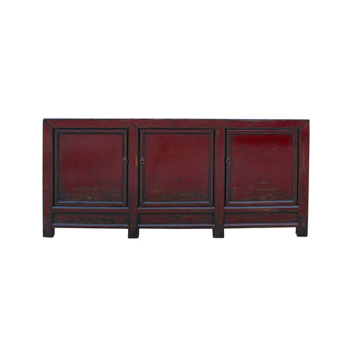 oxblood red - sideboard - credenza - TV console