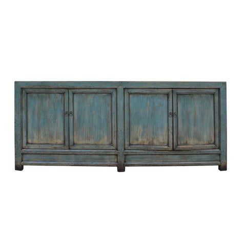 credenza - gray teal blue - console table