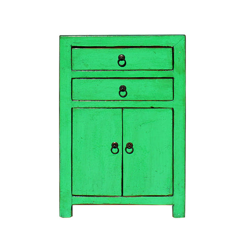 end table - nightstand - green lacquer