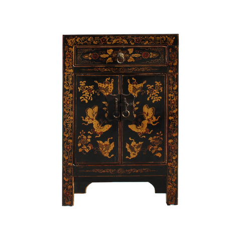 golden butterflies - end table - nightstand