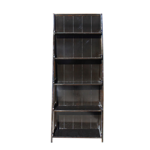 bookcase - display cabinet  - black lacquer ladder cabinet
