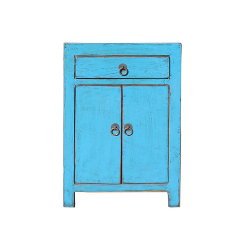 bright blue cabinet - end table - nightstand