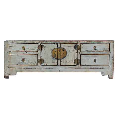 gray cabinet - tv console - oriental low table
