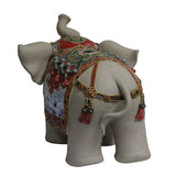 Ceramic Elephant Trunk Up Color Dressing Character Decor Figure cs5449S