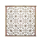 Vintage Restored Oriental Zen Geometric Wood Wall Panel cs5466S