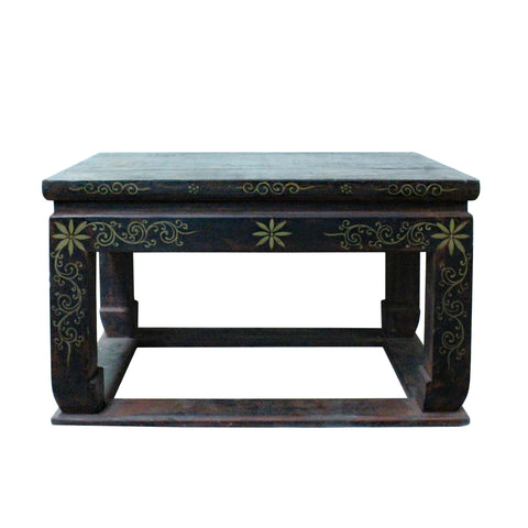 lacquer stand - table top stand - golden graphic table