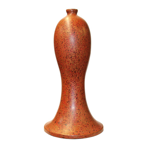lacquer art - golden floral - wood vase