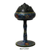 Chinese Metal Blue Enamel Cloisonne Incense Burner Figure cs5507C