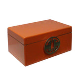 Oriental Round Hardware Orange Rectangular Container Box Large cs5517CS