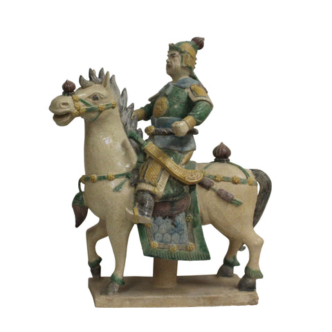 ceramic horse - ancient chinese horse  - horse figure