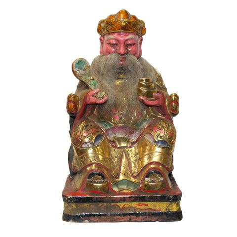 fortune god - home deity - Chinese ancient statue