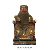Vintage Chinese Wooden Carved Home Guardian Fortune Deity Figure cs5542S