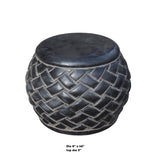 Black Gray Stone Carved Round Simple Relief Pattern Stand cs5567S