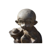 Chinese Small Oriental Monkey with Ingot Stone Figure cs5570S