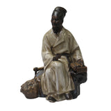 ancient scholar - Chinese teacher - Ceramic Old man