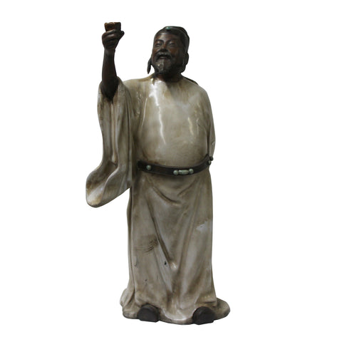 ancient scholar - oriental ceramic figure - chinese old man