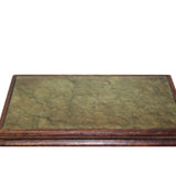 Oriental Brown Wood Stone Top Rectangular Table Stand Display Easel cs5632S