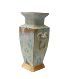 Chinese Rustic Light Blue Glaze Ceramic Vase cs567-16S