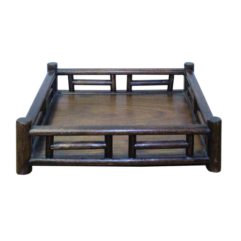 wood tray - chinese carving - tray