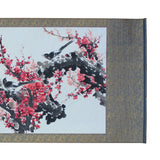 Chinese Color Water Ink Blossom Flower Horizontal Scroll Painting Wall Art cs5706S
