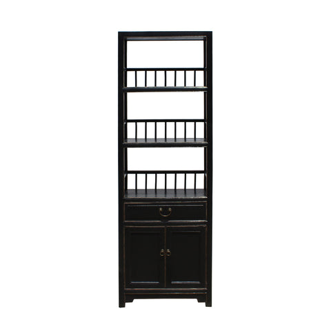 bookcase - display cabinet - black cabinet