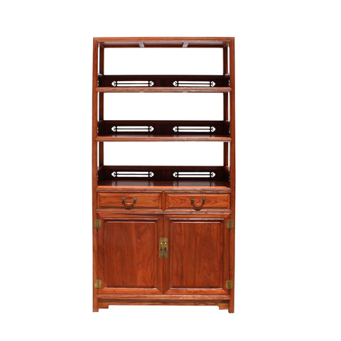 bookcase - display cabinet - rosewood cabinet