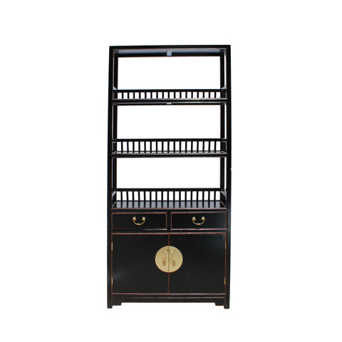 bookcase - display cabinet - black shelf cabinet
