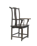 Chinese Elm wood Brown Yoki-back Taishi Armchair cs577-1S