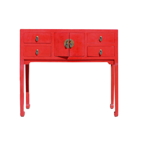 foyer table - red table - console table