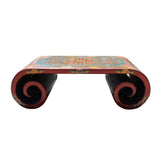 coffee table -  tibetan table - scroll table