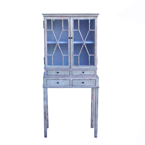 glass cabinet - white lacquer cabinet - display cabinet